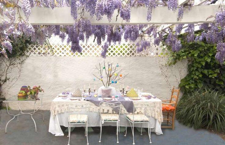 Idee per organizzare il pranzo di Pasqua all'aperto - Decorazioni per la tavola di Pasqua all'aperto