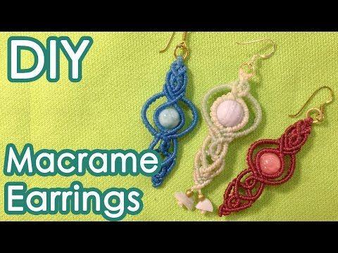 peacock earrings - micro macrame tutorial - YouTube