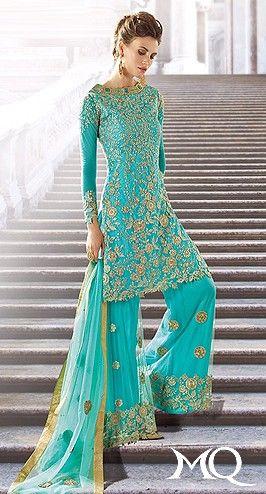 Turquoise & Gold Lengha ZO9002