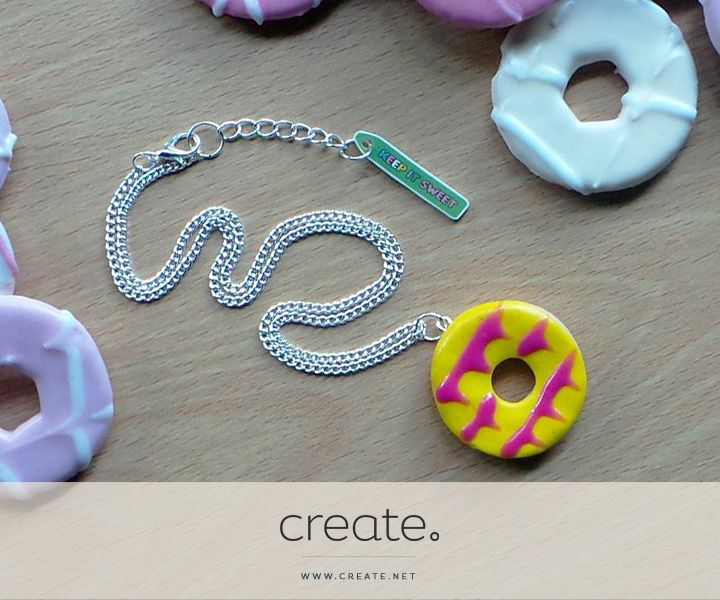 """Win this amazing polymer handmade Party Ring necklace from online store """"Keep It Sweet"""" with the Create Freebie Friday! Enter over on our Facebook page. facebook.com/create"""
