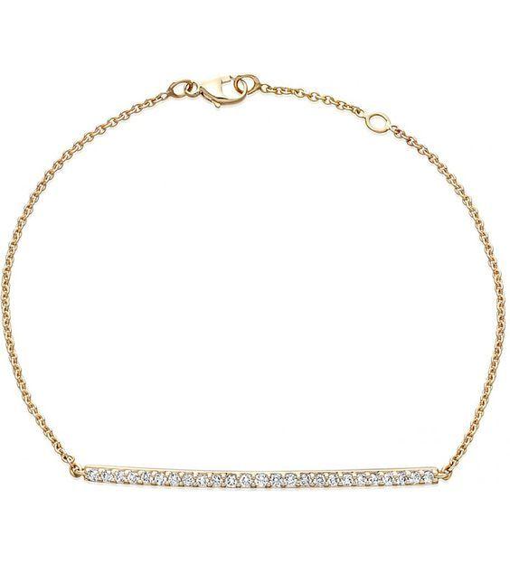 ASTLEY CLARKE - 14ct jaune-or et du diamant bar bracelet   Selfridges.com: