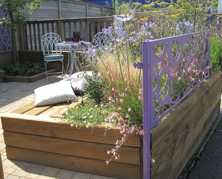 Garden Bench Created Using Jacksons Timber Jakwall   #garden #seating #ideas  #timber