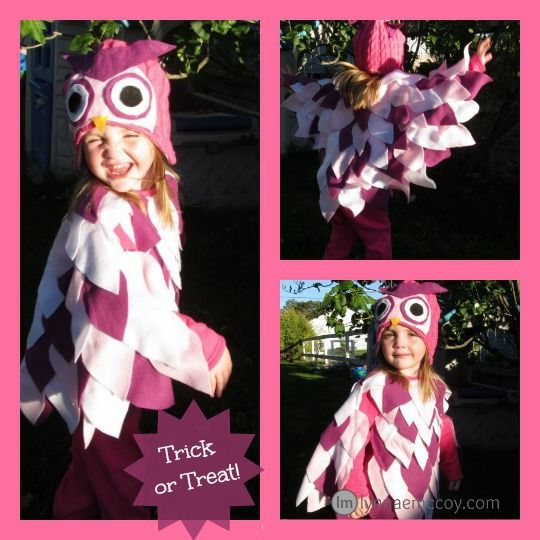 19 best halloween ideas images on pinterest hummingbird whoooo wants to be an owl for halloween a no sew owl costume tutorial solutioingenieria Images