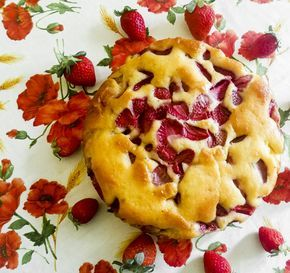 torta plumcake fragole e yogurt greco