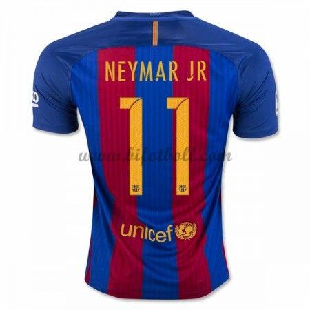 Billiga Fotbollströjor Barcelona 2016-17 Neymar Jr 11 Kortärmad Hemmatröja
