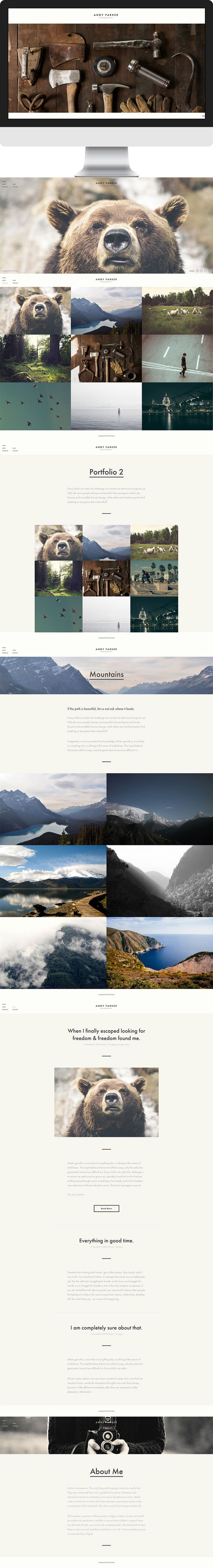 New minimal and stylish WordPress theme for photographers.