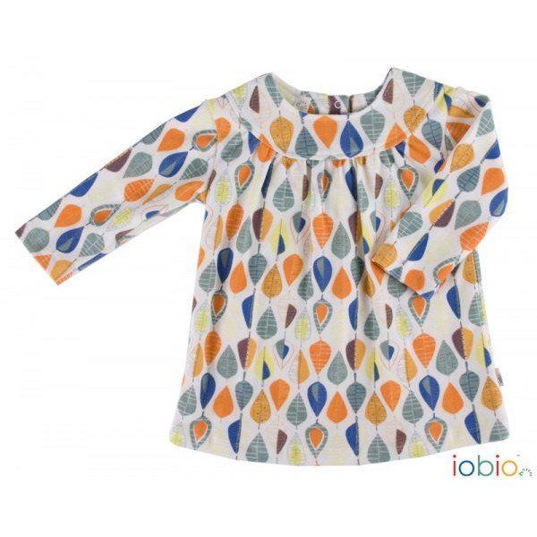 Maglia/vestito in cotone bio - foglie