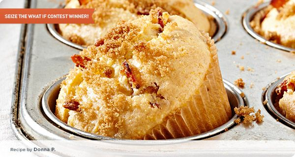 Maple bacon crusted cornbread. Great breakfast idea! #Krusteaz