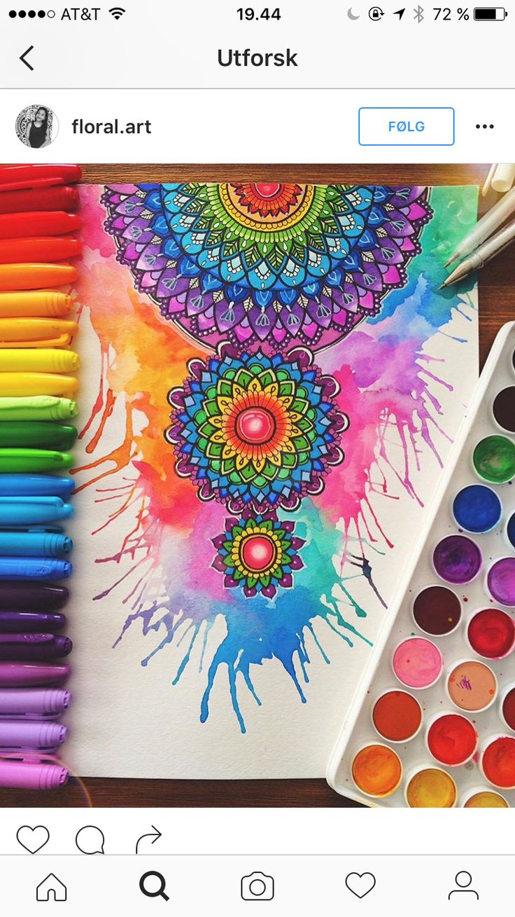 Mandala design with lots of bi