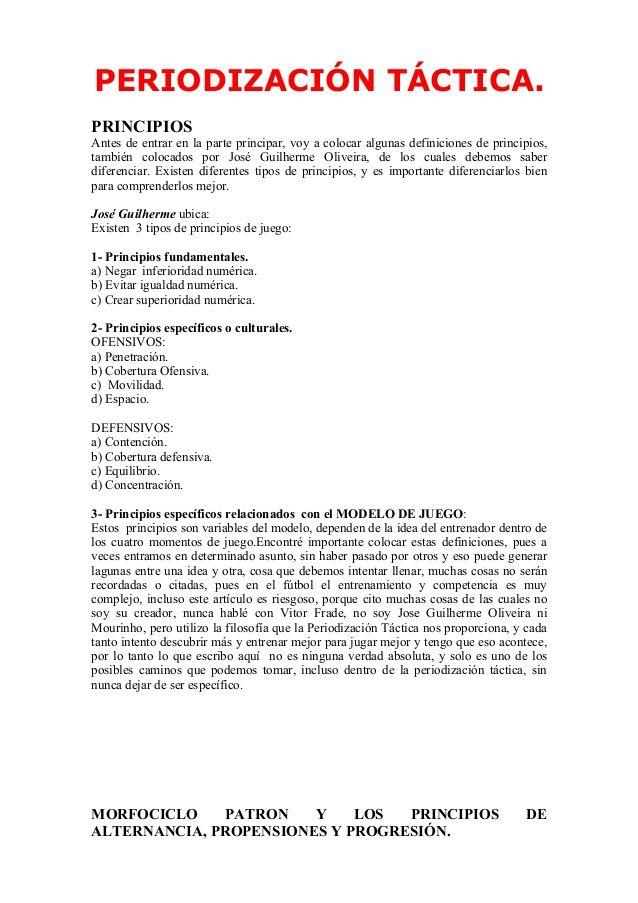 Periodización Táctica Un Modelo De Entrenamiento Oliveira José Gui Periodizacion Entrenamiento Traducir Al Espanol