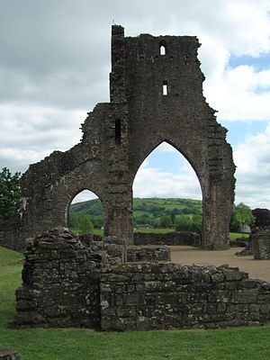 Talley Abbey, Wales. Was founded by Rhys ap Gruffydd in or about 1185. Tal-y-Llychau correct name