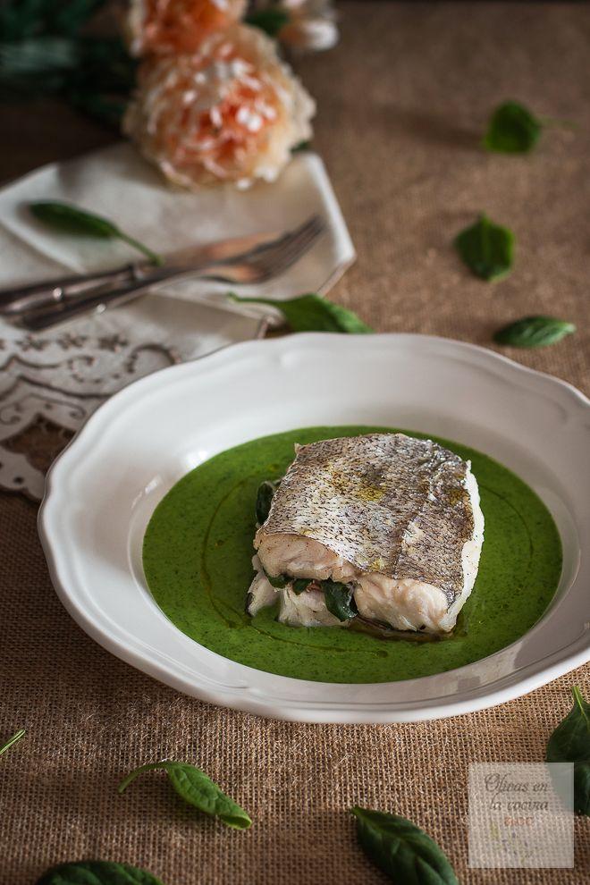Olivas en la cocina: Merluza rellena con salsa verde Hnos. Torres