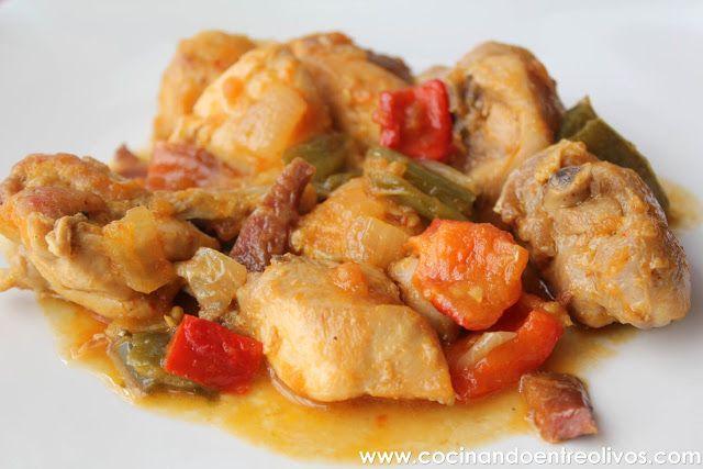 Cocinando entre Olivos: Pollo al chilindrón. Receta paso a paso.