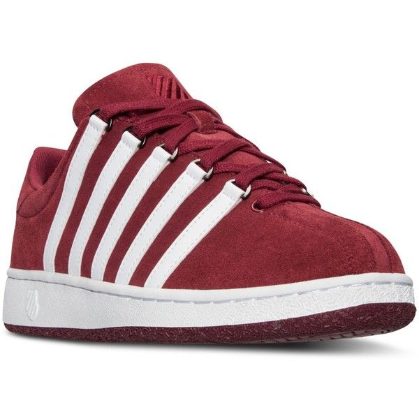 K-Swiss Men's Classic Vn Suede Casual Sneakers from Finish Line ($30) ❤