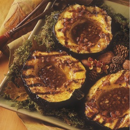 BBQ GRILLING #BBQ #Grilling Acorn Squash with Spiced Pecan Butter