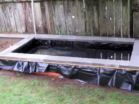 DIY Pond - waterfall - filter build step by step for less than $400 - YouTube