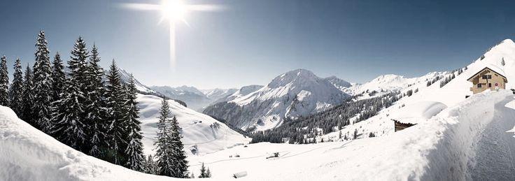 Winterlandschaft Damüls