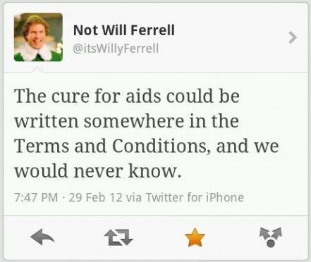 Oh Will Ferrell... You are wise.
