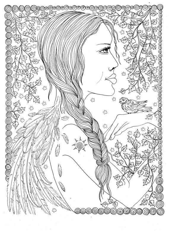 147 best angels to color images on Pinterest