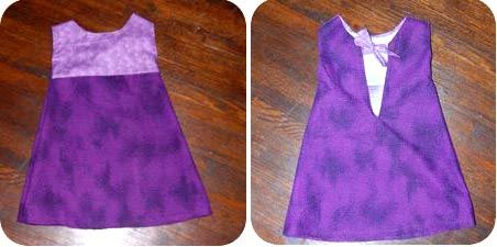 Easy 5 piece toddler dress to start trying to make toddler clothes.  I think I will try this one first