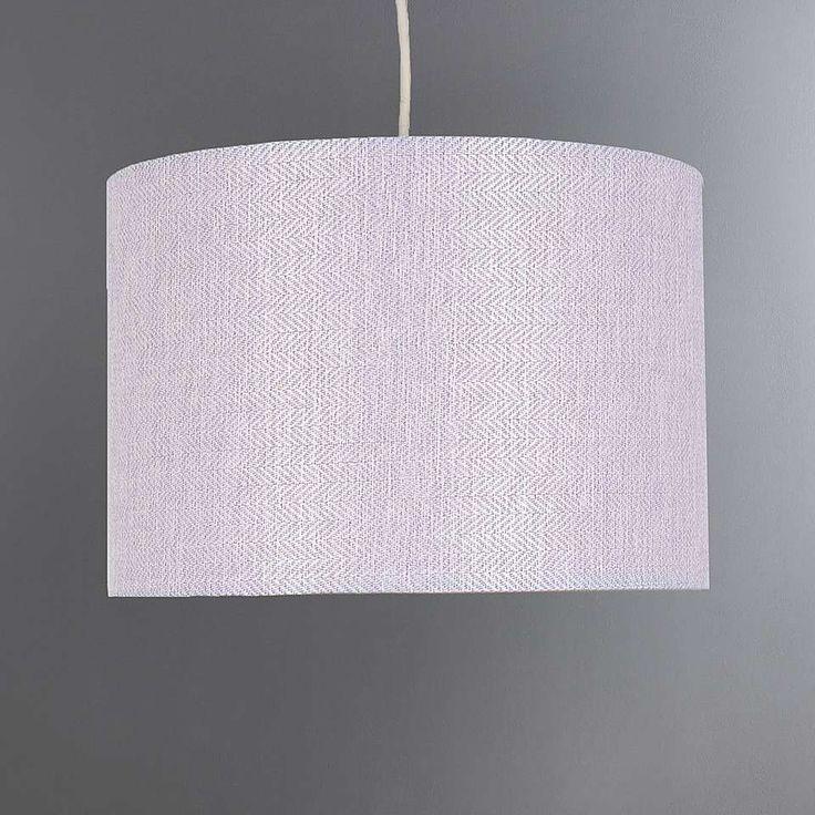 Lennox Lilac Herringbone Light Shade   Dunelm