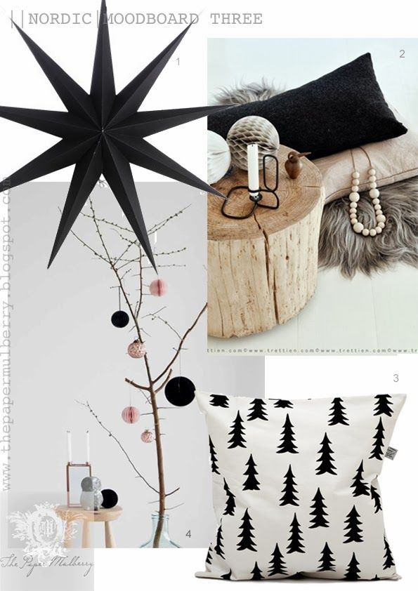 Nordic elements - Gran cushion in black House Doctor Paper Star - a hint of pink - Icelandic sheepskin - The Paper Mulberry: || CHRISTMAS | NORDIC - PURE
