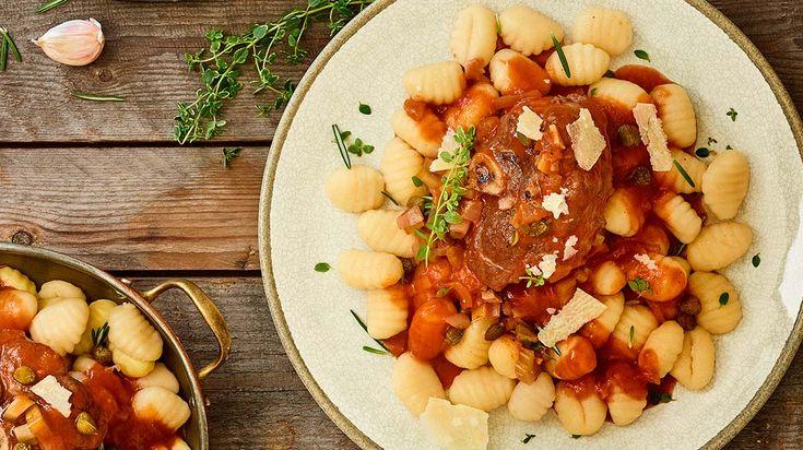 Osso buco de porc à l'italienne et gnocchis