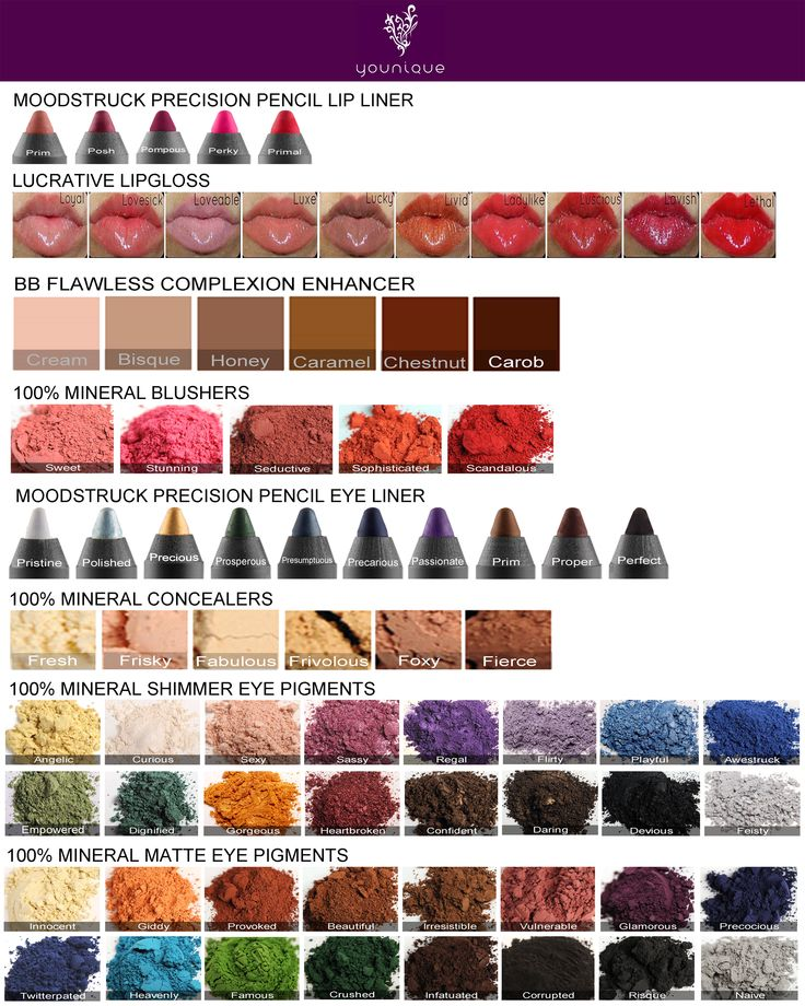 new purses Younique colour chart  Get your Younique products directly from me https   www youniqueproducts com BreannePH presenter myparties
