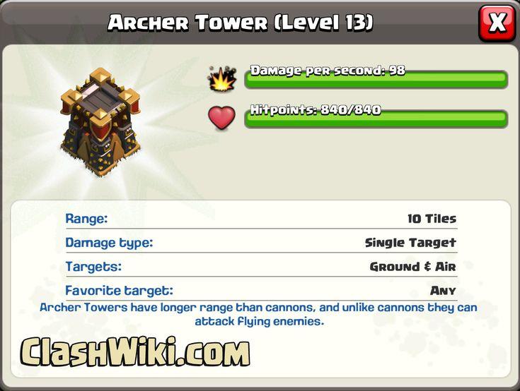 Archer Tower Level 13 #clashofclans