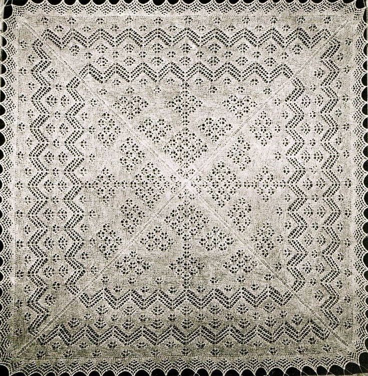 Vintage heirloom shetland lace baby christening shawl knitting pattern