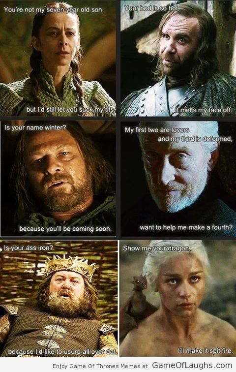 When Game Of Thrones characters get naughty - Game Of Thrones Memes