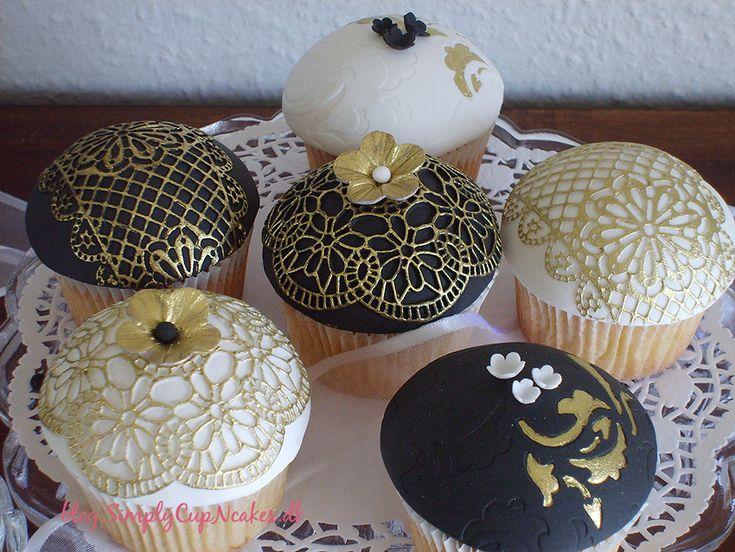 Vintage guld blonde cupcakes