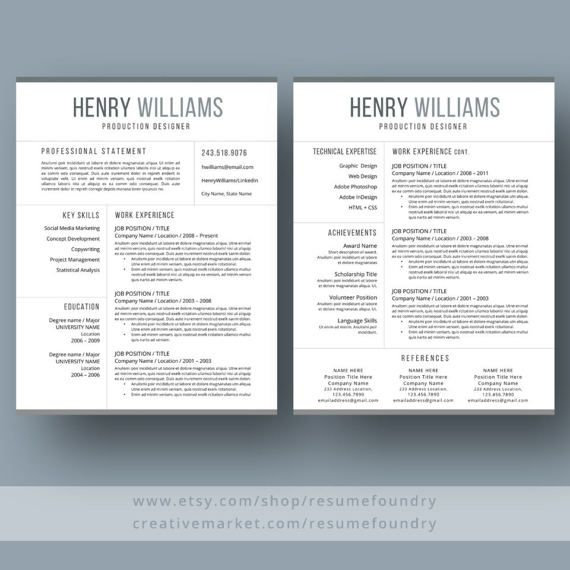 The 17 Best Resume Templates: 17 Best Ideas About Modern Resume Template On Pinterest