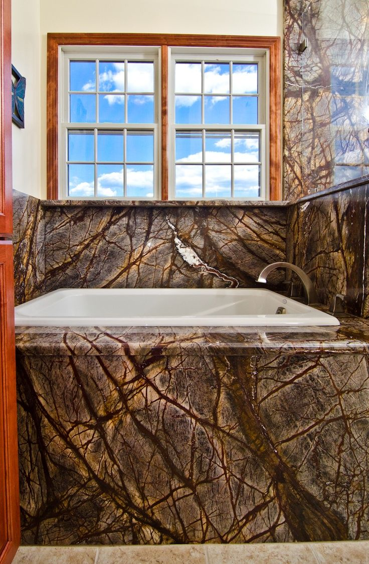 Lapidus premium product search marva marble and granite - Rainforest Brown Granite Bathroom Wow Is All I Can Say