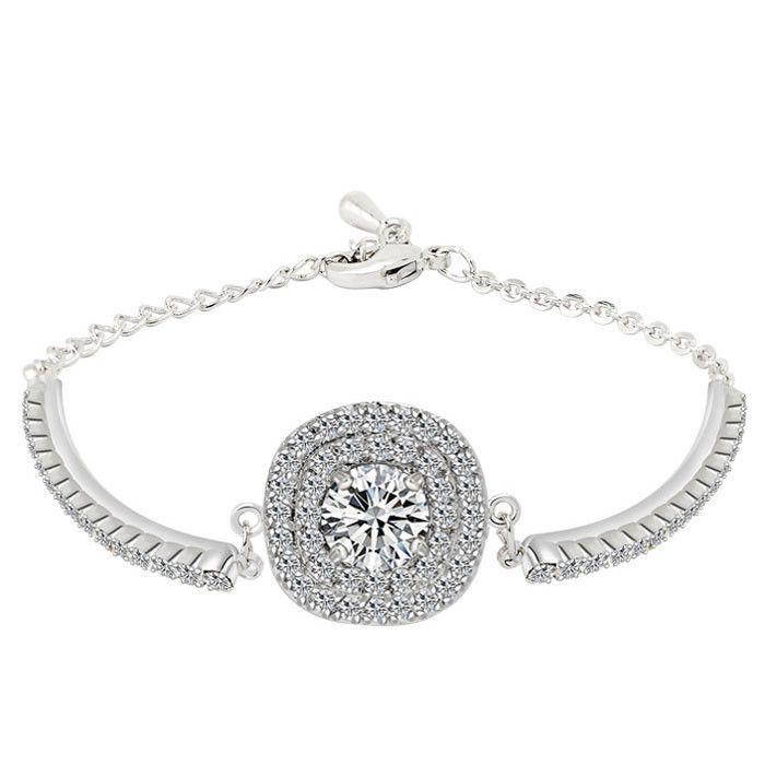 2015 мода ювелирные изделия 18 К позолоченный браслет с из зубец установка CZ бриллиантовый браслет