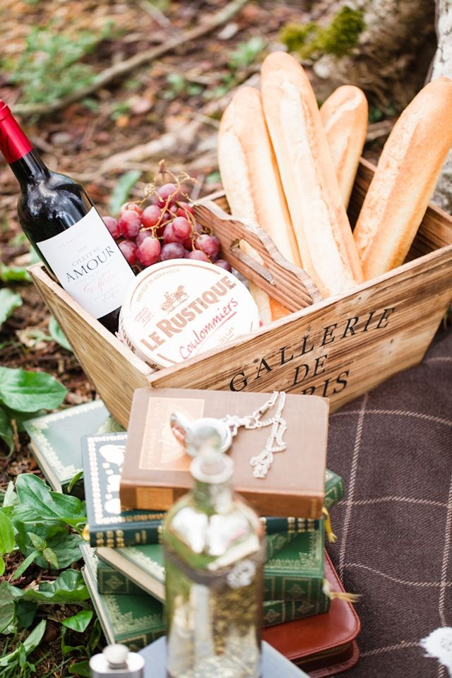 Cheese, baguettes, and wine | Cat Hepple Photography and @FRweddingstyle | see more on: http://burnettsboards.com/2014/06/romantic-french-boho-elopement/