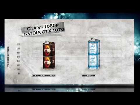 RYZEN R5 1400 Overclocking ( OC 4Ghz ) vs i5 7600K - BENCHMARKS / GAMING... | Nvidia