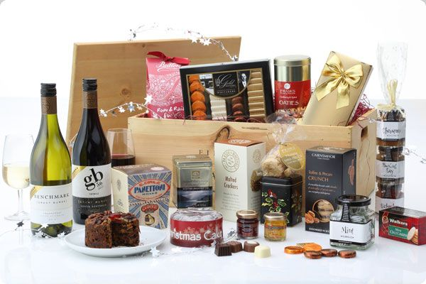 £126.50. Festive Indulgence Hamper.  Enjoy a feast of mouth-watering treats in this luxury Christmas hamper full of fine food and featuring two great wines from Grant Burge of Australia.   http://www.lordsgifts.co.uk/hamper/festive_indulgence_hamper/232/