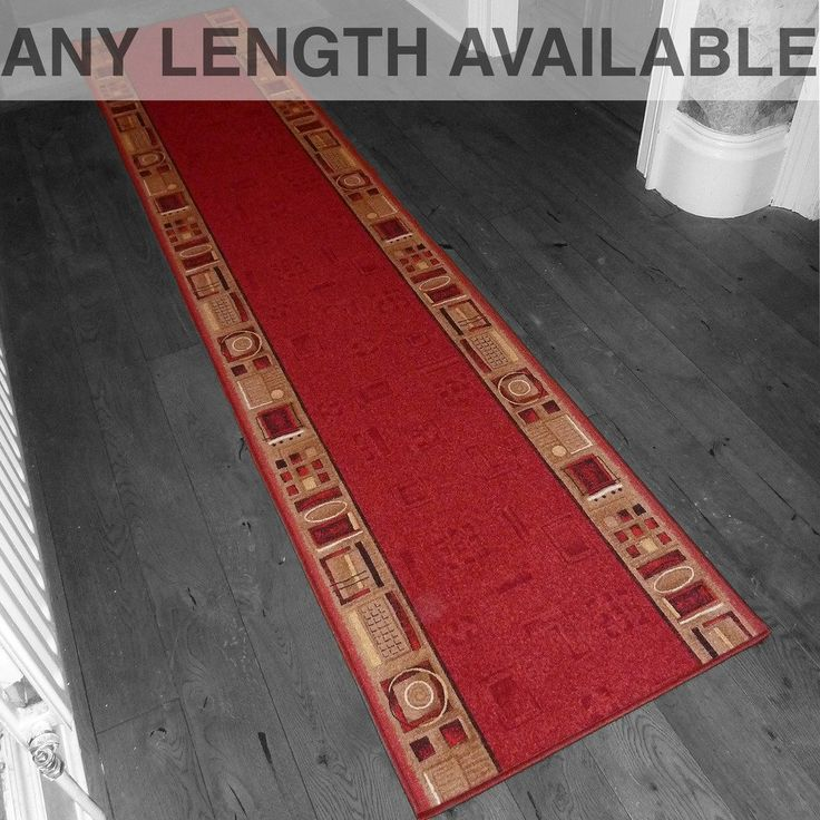 Best Jena Red Long Hall Stair Carpet Runner Amazon Co Uk 400 x 300