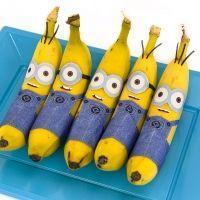Banana Minions (Free Printable) - Minion Party Food | Minions | Pinterest | Kid Foods, Minions and Bananas