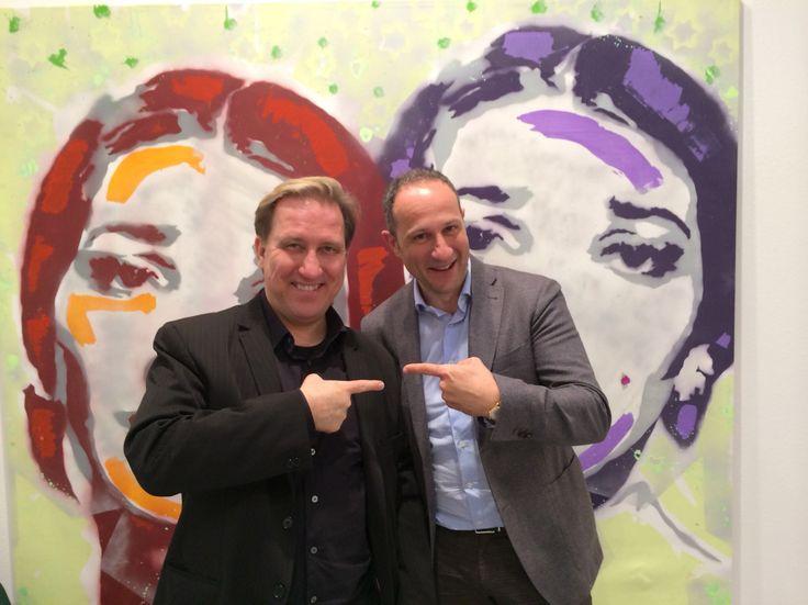 Art fair exhibition  Enrico Caruso (my art dealer) & Mark Kostabi