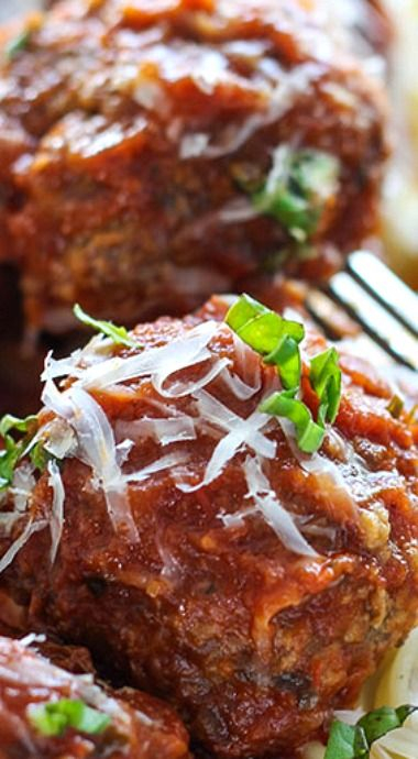 Slow Cooker Italian Meatballs ^