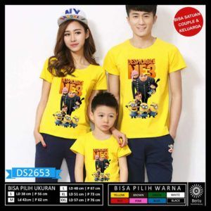 Baju Family Move Minion Despicable Me 3