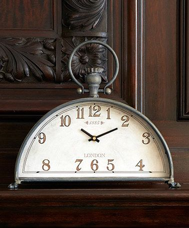 Another great find on #zulily! Gray Half-Circle Mantel Clock #zulilyfinds