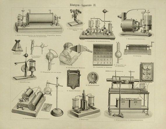 1897 Antique XRAY MACHINE print different by TenDollarsPrints, $10.00
