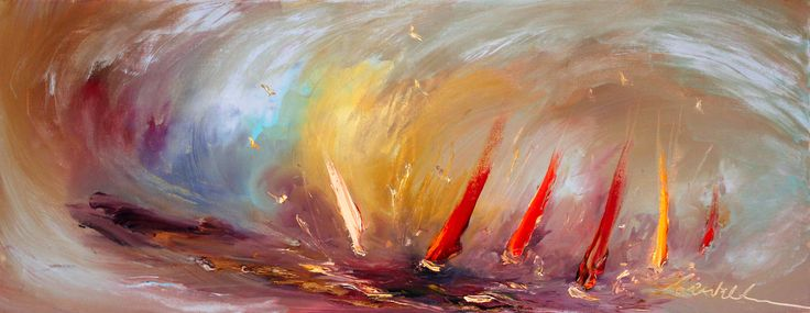 Irish Art - Carol Ann Waldron - A Day at Sea - Oil on canvas  http://www.carolannwaldron.com/a-day-at-sea/