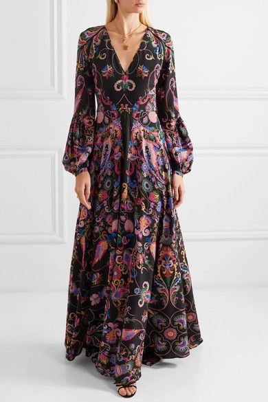 710cb9a69019 Etro - Printed silk-crepe maxi dress in 2019 | great outfits ...