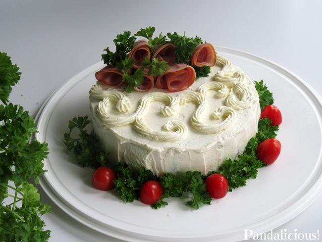 Sandwich cake - Pieni voileipäkakku
