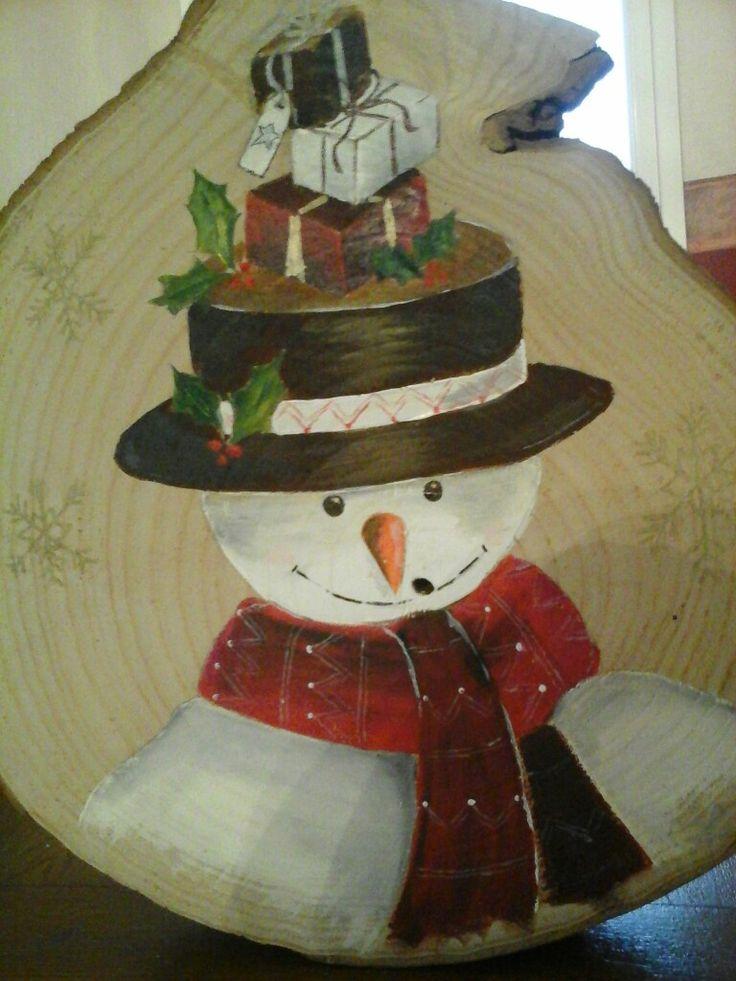 Bonhomme de neige peinture acrylique