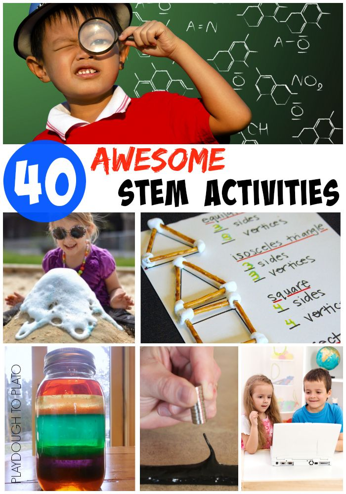 40 fun STEM activities for kids.